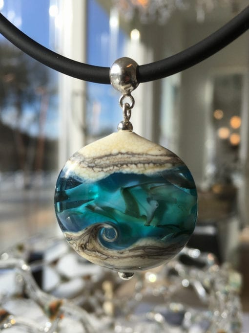 Nordsøbølge, Loenstrup Hot Glass by Susan Vivi Soerensen